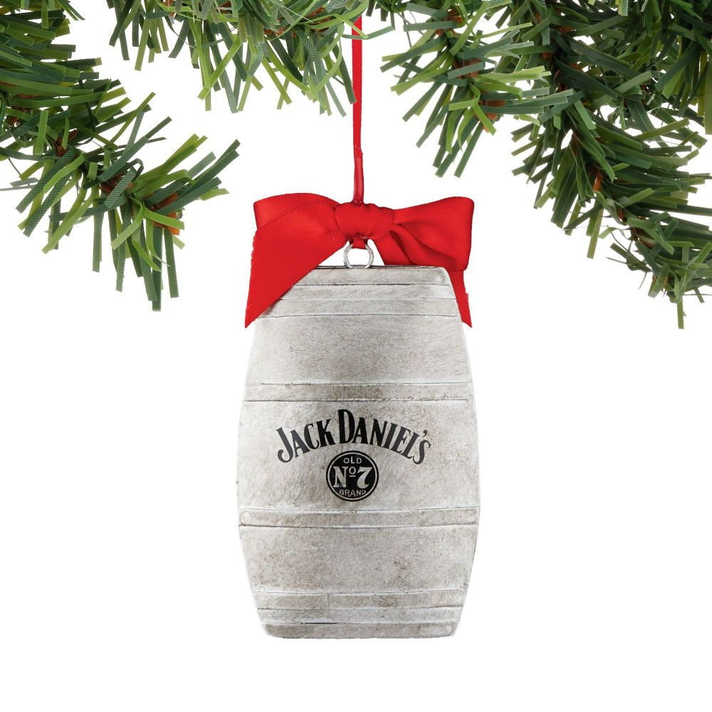 Department 56 Jack Daniel's Barrel Christmas Ornament 4052181